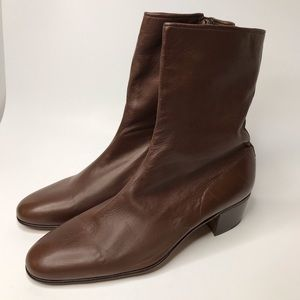 Moreschi Brown Leather Ankle Boot Size 9.5